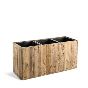 Kvetináč Marrone Box L Dark Flame Wood 93,5x33,5x45cm - TAKACS eshop